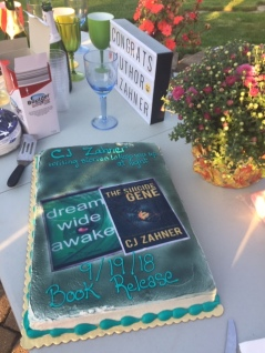 Release day cake outside
